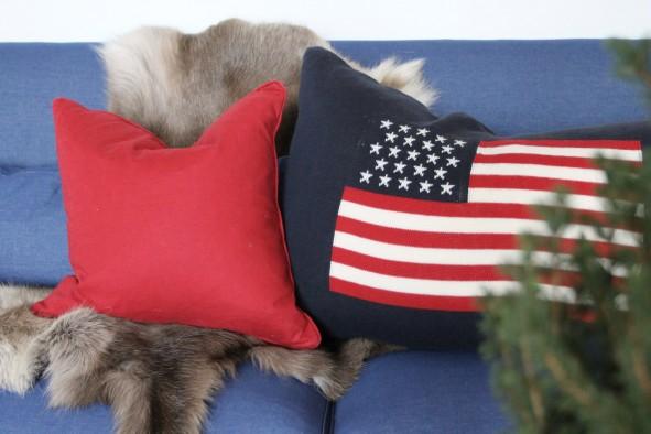 soffa och kuddar